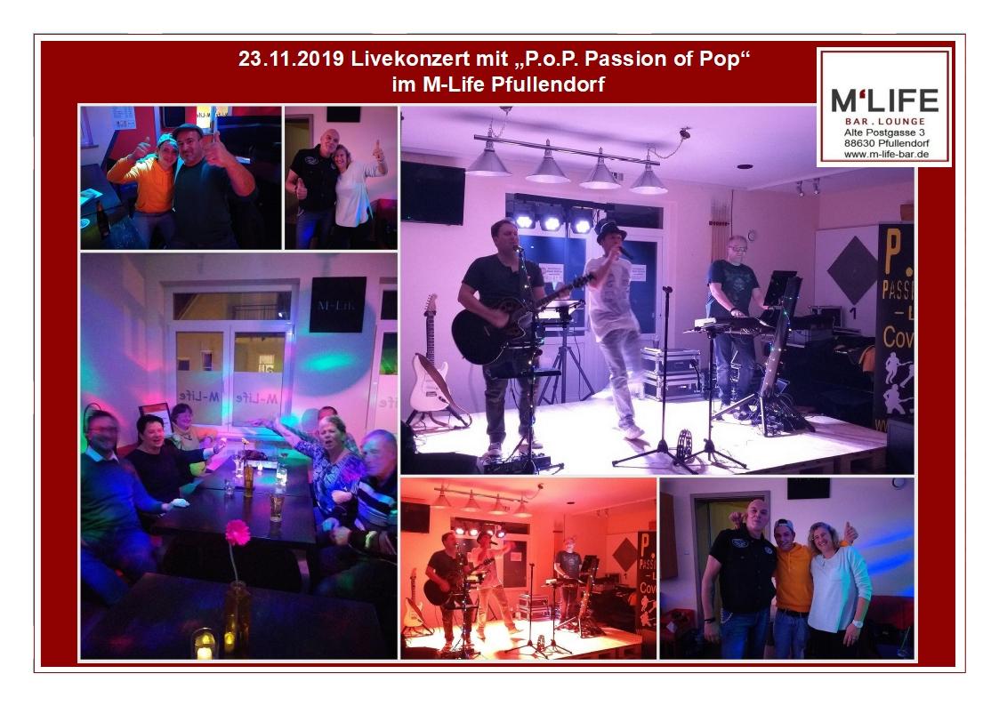 """Impressionen zum Livekonzert mit """"P.o.P. Passion of Pop"""""""