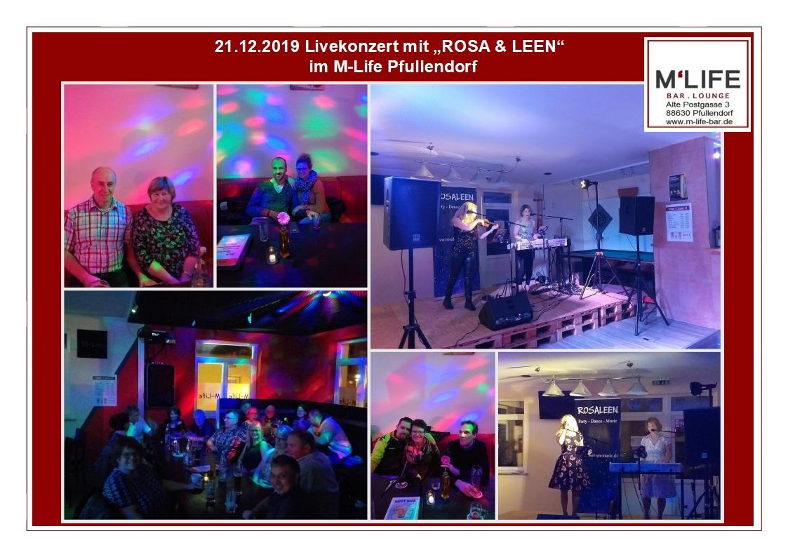 """Impressionen zum Livekonzert mit """"ROSA & LEEN"""""""