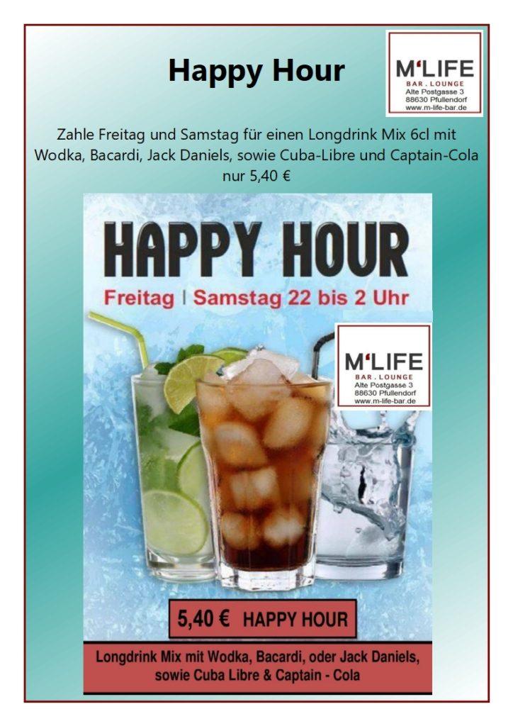 Happy Hour M-Life Longdrinks