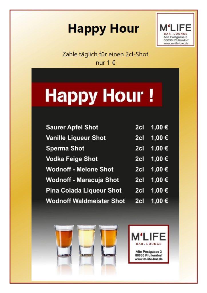 Happy Hour M-Life Shots