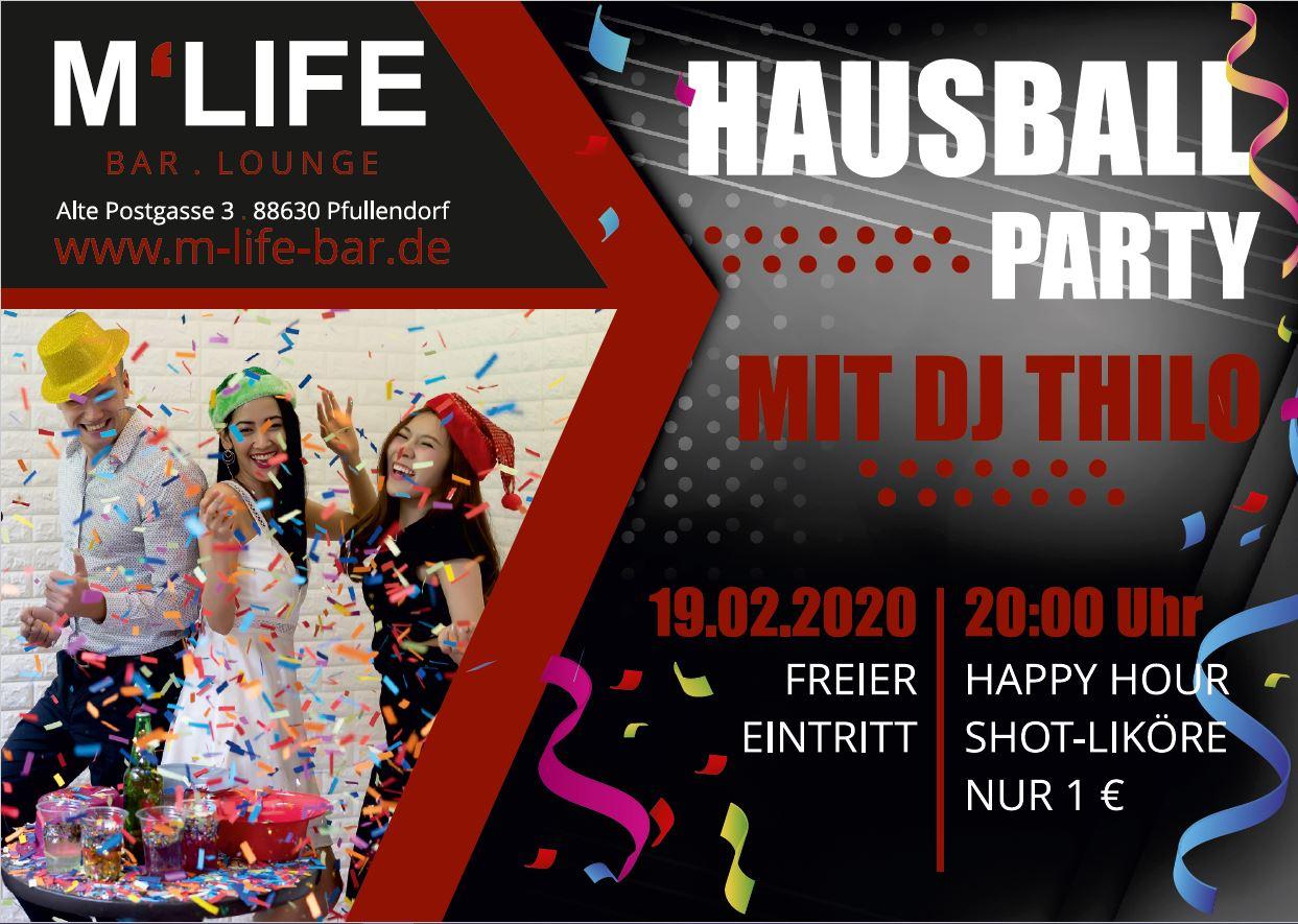 Hausball-Party mit DJ Thilo im M-Life